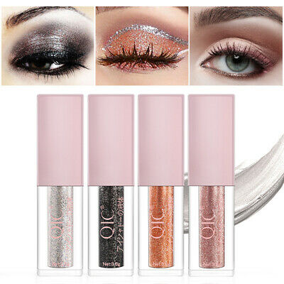 Cy_ Glitter Metallic Eyeshadow Liquid Eyeliner Shimmer Long Lasting Makeup Eyefu