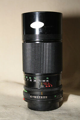 CANON FDn 70-150mm 1:4.5 LENS VERY GOOD CONDITION WITH CAPS 8268