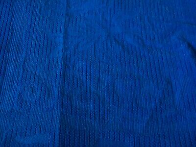Bright Blue Velvet Feel Upholstery fabric material Antiques by the metre 16