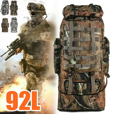 92L Outdoor Molle Military Backpack Tactical Camping Hiking Trekking Rucksack