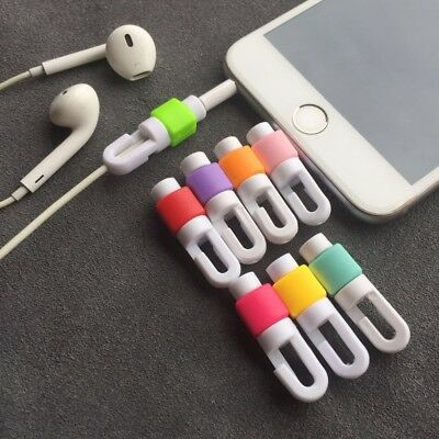 10Pcs Cell Phone Charging Cable Organizer Wire Protector Cord Protection Cover