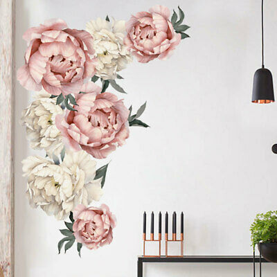 Diy Beautiful Peony Flower Wall Sticker Mural Art Vinyl