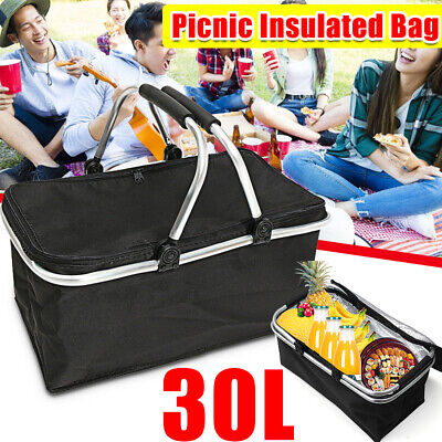 30 L Waterproof Thermal Insulated Cooler Lunch Bag Box Carrier Work Case Storage