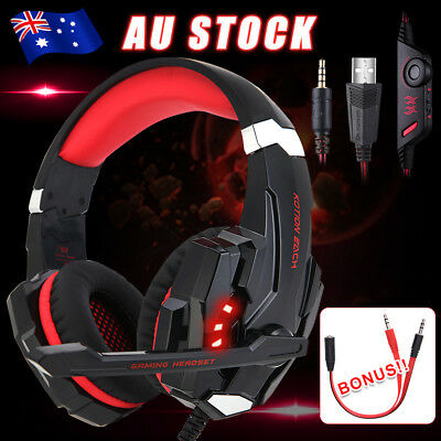 3.5mm G9000 Gaming Headset MIC LED Headphone for Mac Laptop PS4 Xbox One yw