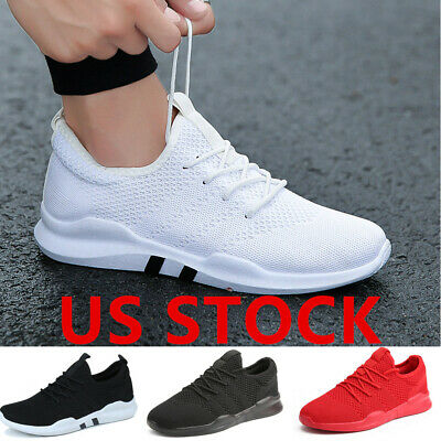 Sneakers Mens Flyknit Casual Jogging Breathable Gym Running Walking Athletic Sho
