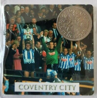 Coventry City Football card with Lucky Sixpence - Ideal Birthday gift *REDUCED