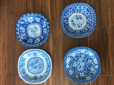 4 beautiful vintage old Asian Japanese small plates ( as one lot)good condition
