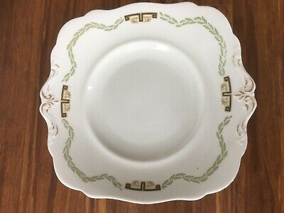 Old vintage antique  large platter with pattern and gilding ,Paragon, China