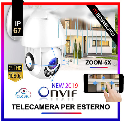 Telecamera Esterna Full Hd 1080P 2019 Wireless Ip Ptz Per Videosorveglianza Wifi