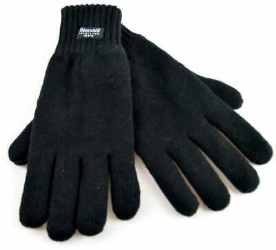 New Men's Thermal Thinsulate Knitted Winter Warm One Size Full Finger Gloves