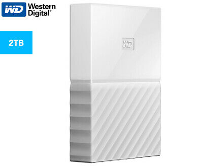 WD My Passport USB 3.0 2TB Portable Hard Drive - White
