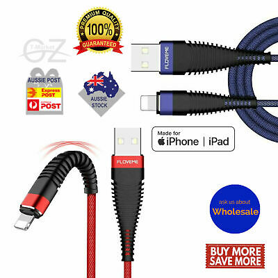 Genuine Braided Lightning Data Cable Charger iPhone 11 Pro MAX X XS XR 7 8 Plus
