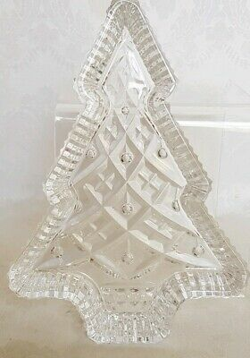 "VINTAGE Waterford Crystal Christmas XMAS TREE Candy Serving Tray 7,5"" SIGNED"