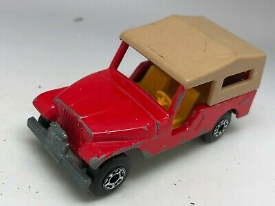 Matchbox Lesney Superfast No 53 Red CJ6 Jeep Car