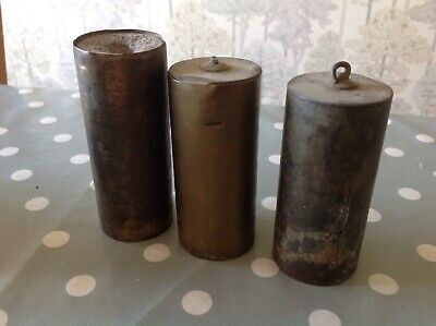 Antique Vienna Clock Weights Three To Repair & Restore 3.8kg In Total 95 100 100