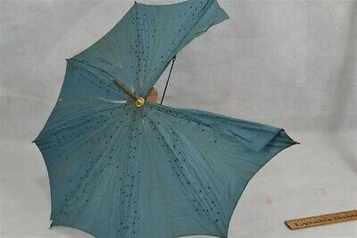 "parasol umbrella small 21"" top brass rod metal ribs  original antique parts"