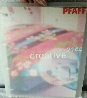 Owner's Manual for PFAFF CREATIVE 2144 Sewing Embroidery Machine Book Free Ship