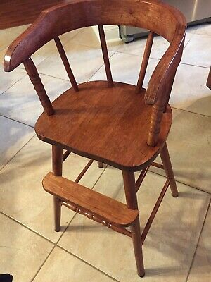Children's Wooden Youth High Chair for Ages 2+ Years Very Nice Seldom Used