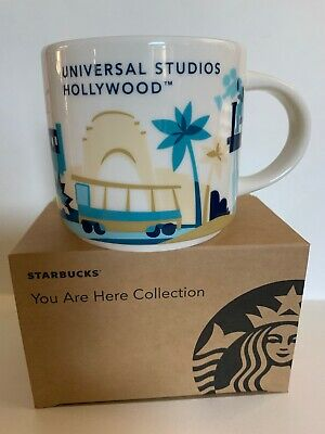 9806aa1565f Universal Studios Hollywood Starbucks YAH You Are Here Mug Cup NIB SOLD OUT  RARE