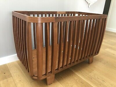Bloom Retro Cot Bed And Dresser Changing Unit Nursery