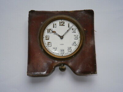 Vintage TRAVEL CLOCK 8 DAYS mechanical watch working for spares or repair swiss