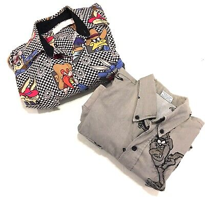 VTG Looney Tunes Mens Button front Western Shirts