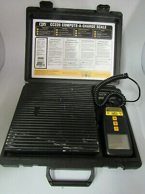 CPS CC220 Refrigerant Charging Scales 220lb cap. Electronic Scale     a189.4