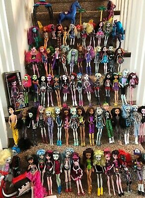 Huge 70 MONSTER HIGH DOLLS Lot Clothes Doll Accessories Boys Scooter