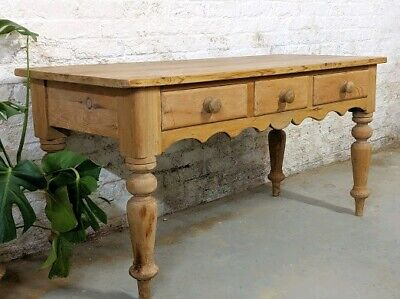 Antique Pine Kitchen Prep Table - farmhouse | country