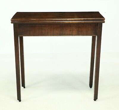 Late 18th Century Mahogany Tea Table With Fold Over Top FREE Nationwide Delivery