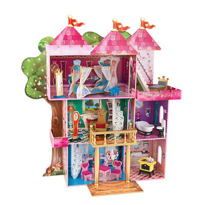 KidKraft Storybook Mansion Wooden Dollhouse with 14 Pieces of House Furniture