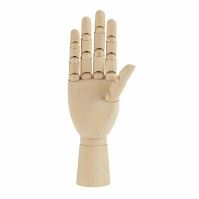 "10"" Artist Reference Flexible Wooden Hand Model Mannequin For Drawing Sketching"