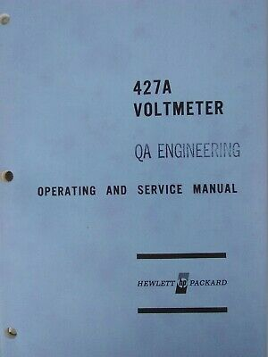 HP 427A Voltmeter Operating and Service Manual 1967