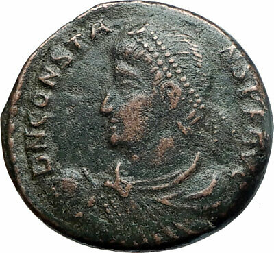 CONSTANS  Authentic Ancient 347AD Genuine Roman Coin Soldier i80011