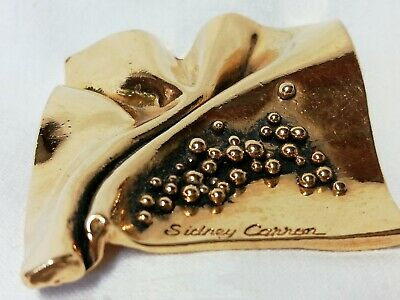 ORIGINALE BROCHE  SCULPTURE signée SIDNEY CARRON PARIS