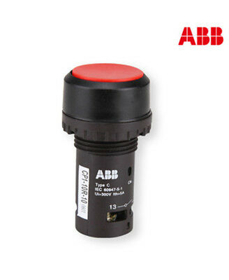 H● ABB CP1-10R-10 Red Pushbutton Switches.