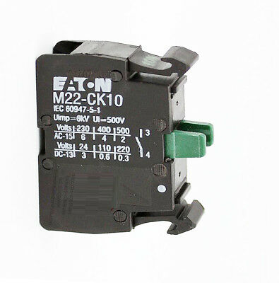 H● Eaton,Moeller M22-CK10 Contact Block 1NO Black.