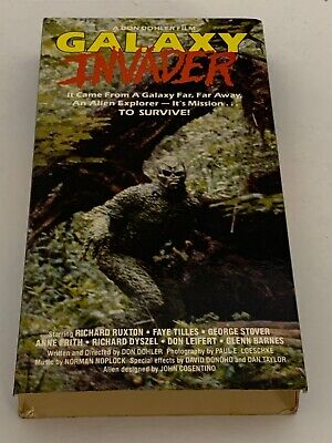 Galaxy Invader (VHS) 1987 United Don Dohler Sci-fi Horror Rare HTF OOP! Ruxton