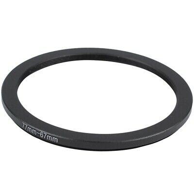 77mm-67mm 77mm to 67mm Step Down Ring Adapter Black for DSLR Camera S4F1