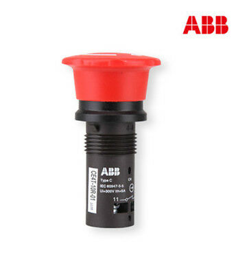 H● ABB CE4T-10R-01 Emergency Stop Pushbotton Switches,22mm.