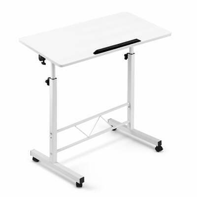 Portable Mobile Laptop Desk Notebook Computer Height Adjustable Table Sit Stand