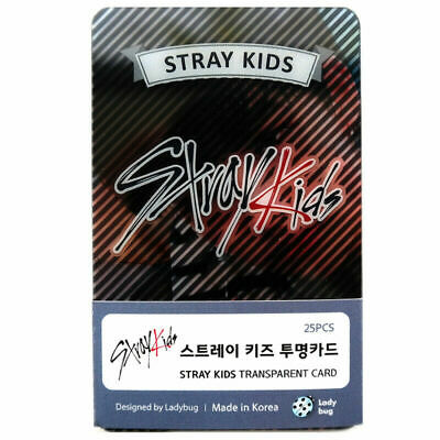 KPOP IDOL STRAY KIDS Transparent Photo Card 25pcs + Tracking Number