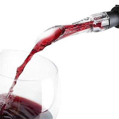 Wine Aerator Pour Spout Acrylic Decanter Pourer Aerating Bottle Stopper Tool JH
