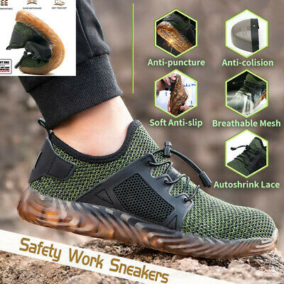 Men's Indestructible Steel Toe Cap Safety Work Shoes Lightweight Trainers New