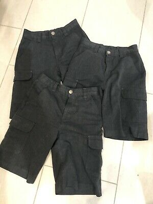 Boys Grey School shorts  3 Pairs-from Next Age 9 - Excellent Condition!