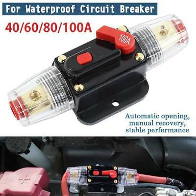 40A-100A AMP Circuit Breaker Car Marine Stereo Audio Inline Replace Fuse 12V-24V