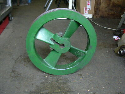 """Cast Iron double Groove Belt, 'A 'Section pulley, balanced, Bushing 15/16"""""""