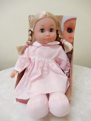 Peterkin Dolls World Doll Lily Vinyl Soft Bodied In Box 41 Cm Blonde Brand New
