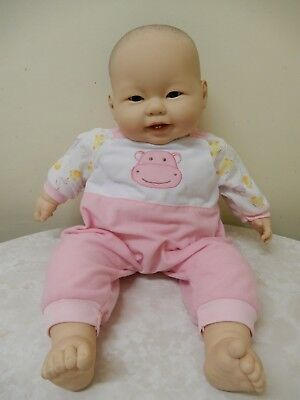 Large Berenguer Vinyl Asian Baby Girl Doll 50 Cm Pink Outfit Brand New