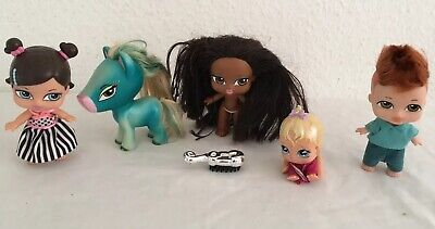 Bratz Baby Dolls Bundle  x 4 Including Harvey ~ Sasha & Petz Pony Trina
